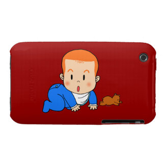 Cute red-haired baby Case-Mate iPhone 3 case