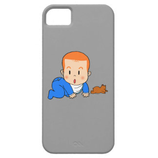 Cute red-haired baby iPhone 5 cases