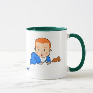 Cute red-haired baby mug