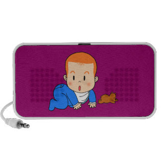 Cute red-haired baby PC speakers
