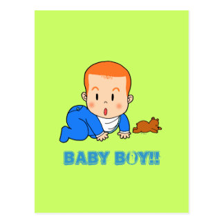 Cute red-haired baby postcard
