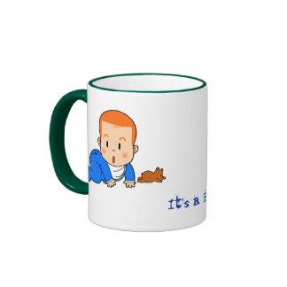 Cute red-haired baby ringer mug