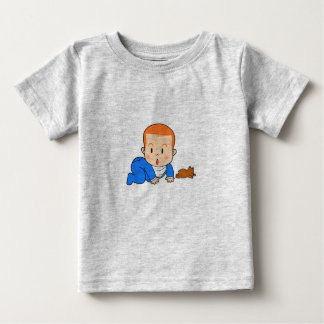 Cute red-haired baby t shirts