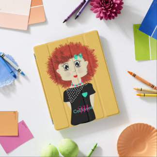 Cute Red Haired Cartoon Doll iPad Cover