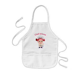 Cute red-head baby girl chef || Personalized Kids Apron
