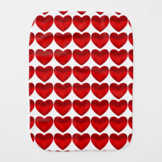 CUTE RED HEART BURP ClOTH