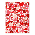 Cute Red Hearts Background Postcard