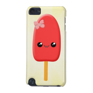 Cute Red Kawaii Popsicle with Bow iPod Touch Skin iPod Touch 5G Cover
