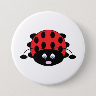Cute Red Ladybug Button