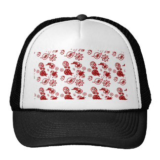 Cute red ladybugs! cap
