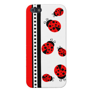 Cute Red Ladybugs iPhone 5 Case