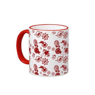 Cute red ladybugs mugs
