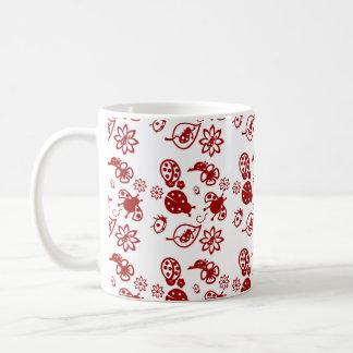 Cute red ladybugs! mug