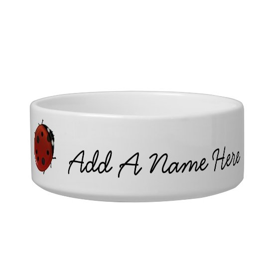 Cute Red Ladybugs Personalised Bowl
