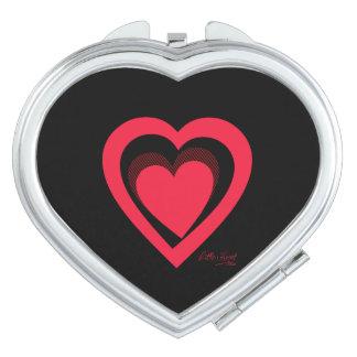 Cute red Little heart Vanity Mirror