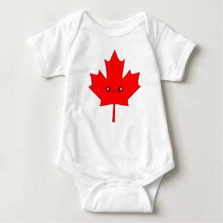 Cute Red Maple Leaf Infant Creeper