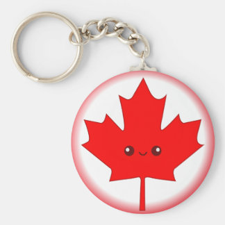 Cute Red Maple Leaf Key Chain