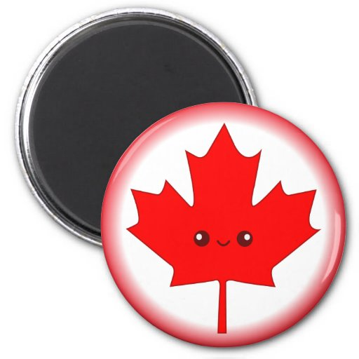 Cute Red Maple Leaf Magnet