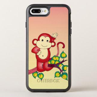 Cute Red Monkey Animal OtterBox Symmetry iPhone 8 Plus/7 Plus Case