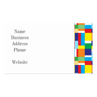 Cute Red Monster on Colorful Patchwork Blocks Business Cards