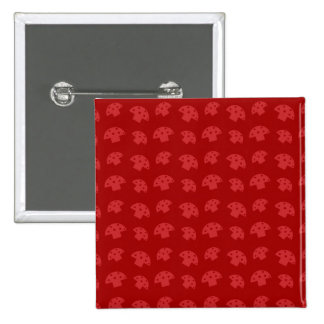 Cute red mushroom pattern 15 cm square badge