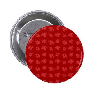 Cute red mushroom pattern 6 cm round badge
