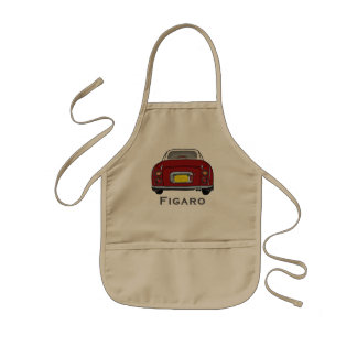 Cute Red Nissan Figaro Car BBQ Kitchen Apron
