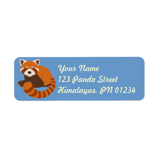 Cute Red Panda Adddress Labels