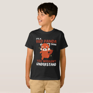 Cute Red Panda T-Shirt for Kids