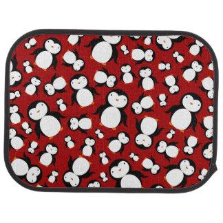 Cute red penguin pattern car mat