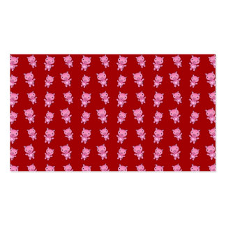 Cute red pig pattern business cards