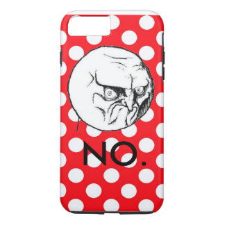 Cute Red Polka Dot No Meme iPhone 7 Plus Case