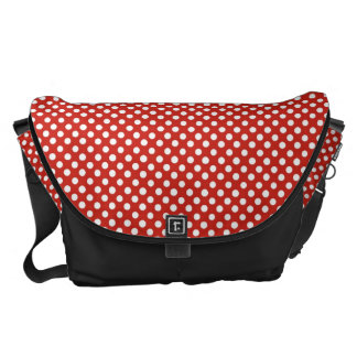 Cute red polka dot pattern courier bag