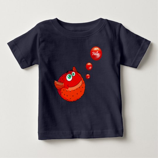 Cute red puffer fish baby T-Shirt