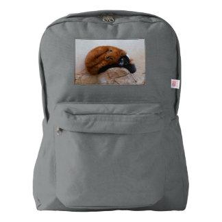 Cute Red Ruffed Lemur Backpack