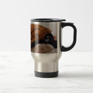 Cute Red Ruffed Lemur Coffee Mugs