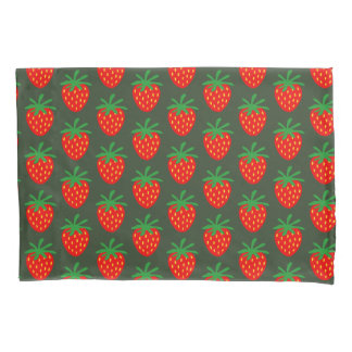 Cute red strawberry pattern custom pillow case