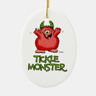 Cute red tickle Monster by send2smiles Christmas Ornament