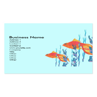 Cute Red Tropicl Fish Business Card Template