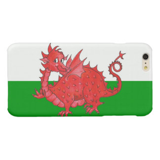 Cute Red Welsh Dragon Green and White Background iPhone 6 Plus Case