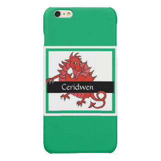 Cute Red Welsh Dragon on Green Background iPhone 6 Plus Case
