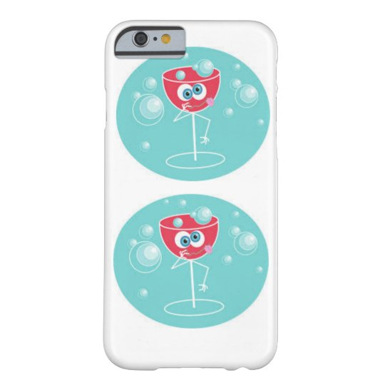 Cute red wine bubbles iPhone 6/6s, Barely There