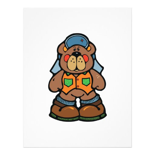 cute redneck camper bear flyer