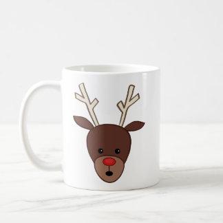 Cute Reindeer Basic White Mug