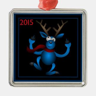 """Cute Reindeer Christmas 2015"" Premium Ornament"