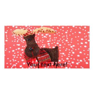 Cute reindeer Christmas decoration Photo Card