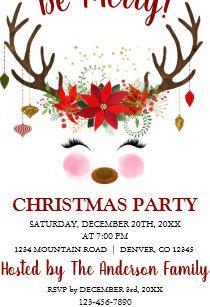 corporate holiday xmas christmas party invitations zazzle uk