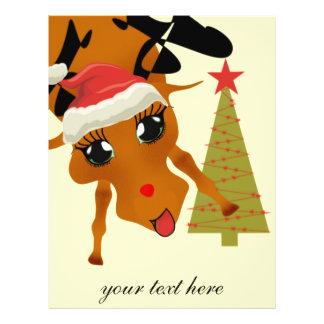 Cute Reindeer 21.5 Cm X 28 Cm Flyer