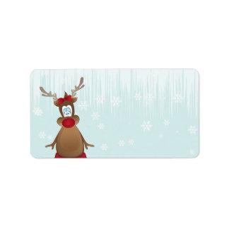 Cute Reindeer Girl Label
