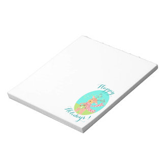 Cute reindeer | Happy Holidays small notepad